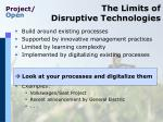 the limits of disruptive technologies1