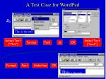 a test case for wordpad