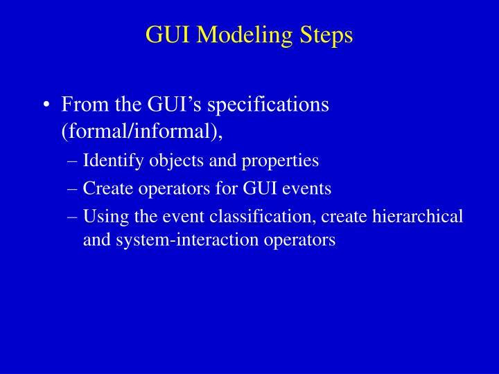 GUI Modeling Steps