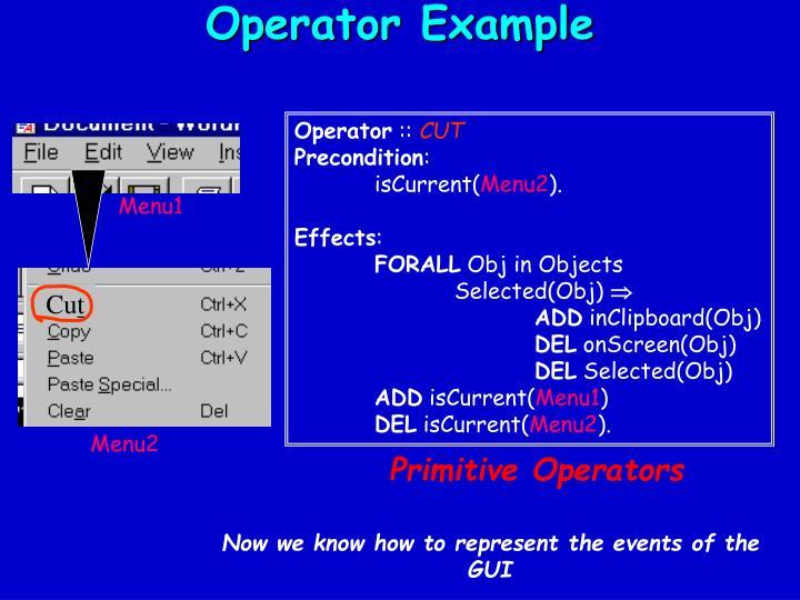 Operator Example