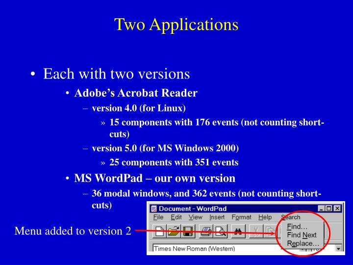 Two Applications