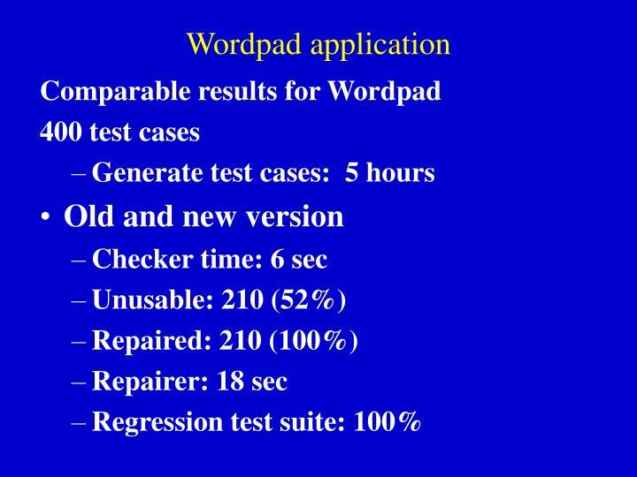 Wordpad application