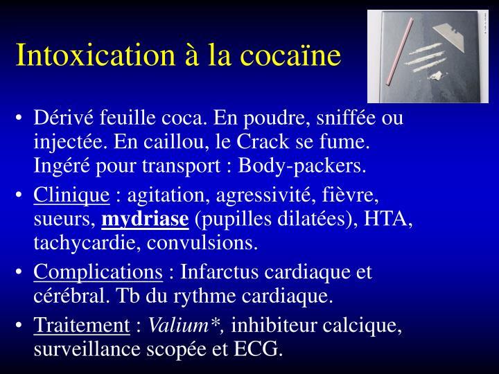 Intoxication à la cocaïne