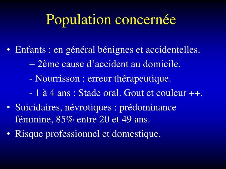 Population concernée