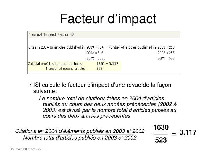 Facteur d'impact
