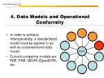 4 data models and operational conformity