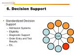 6 decision support