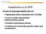 impediments to an epr