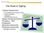 the scale is tipping