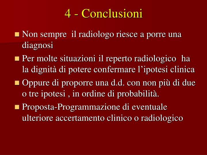 4 - Conclusioni