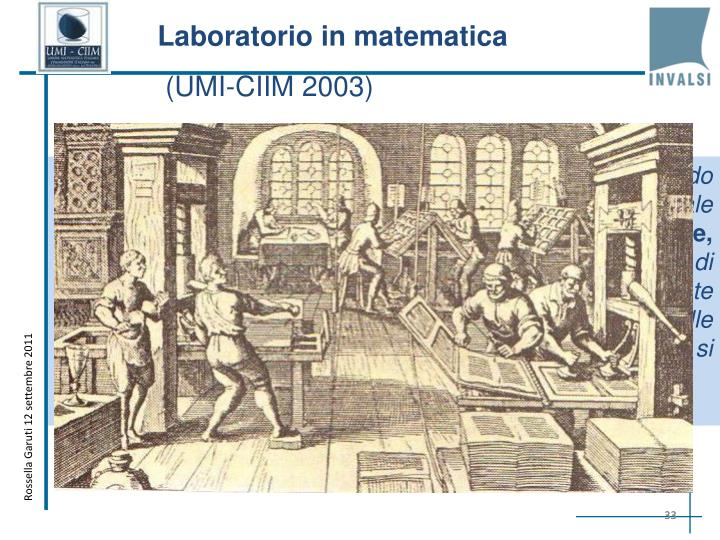 Laboratorio in matematica