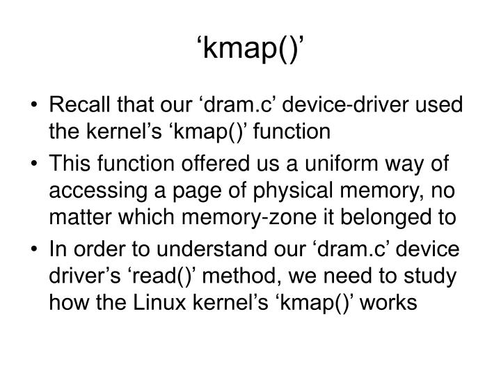 'kmap()'