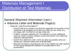 materials management i distribution of test materials20