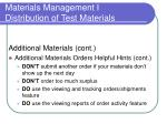 materials management i distribution of test materials37