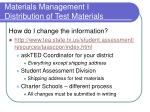 materials management i distribution of test materials5