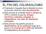 el fin del colonialismo