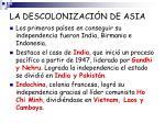 la descolonizaci n de asia
