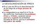la descolonizaci n de frica