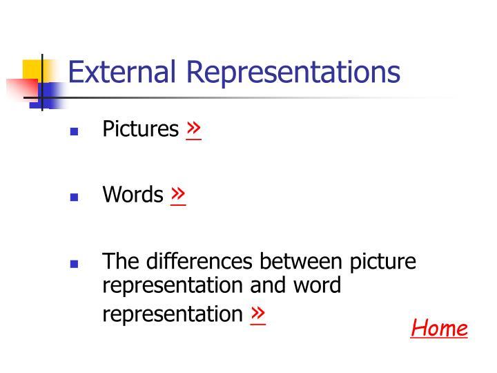 External Representations