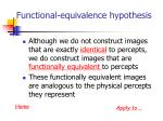 functional equivalence hypothesis