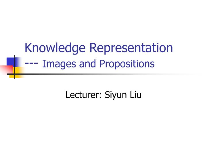 Knowledge representation images and propositions