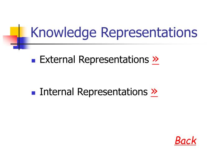 Knowledge representations