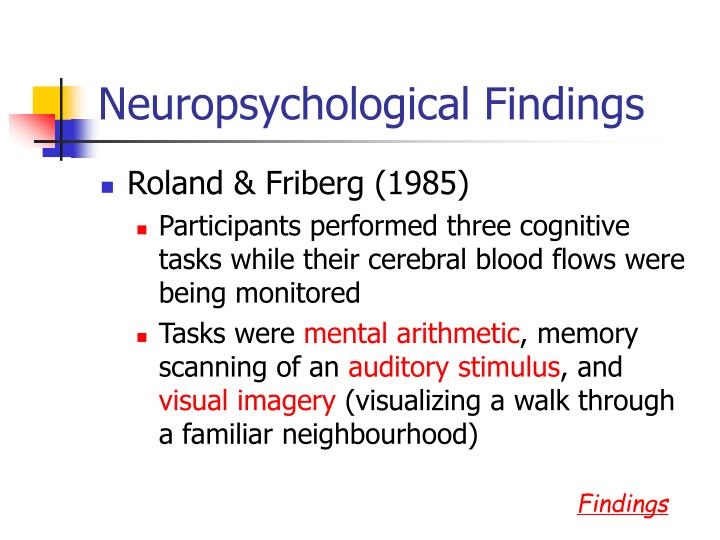 Neuropsychological Findings