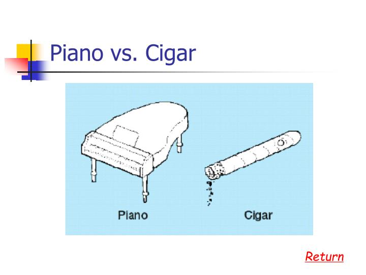 Piano vs. Cigar