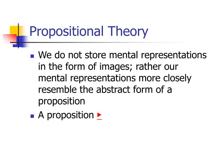 Propositional Theory