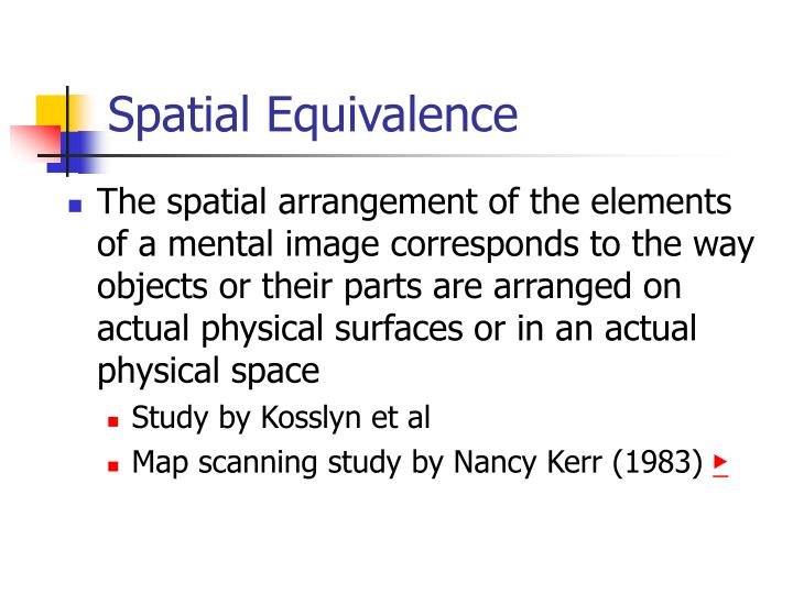 Spatial Equivalence