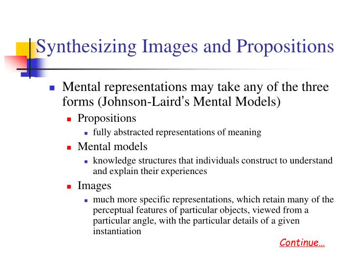 Synthesizing Images and Propositions