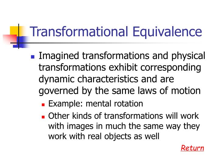 Transformational Equivalence