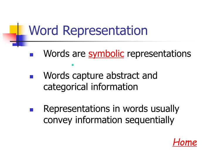 Word Representation