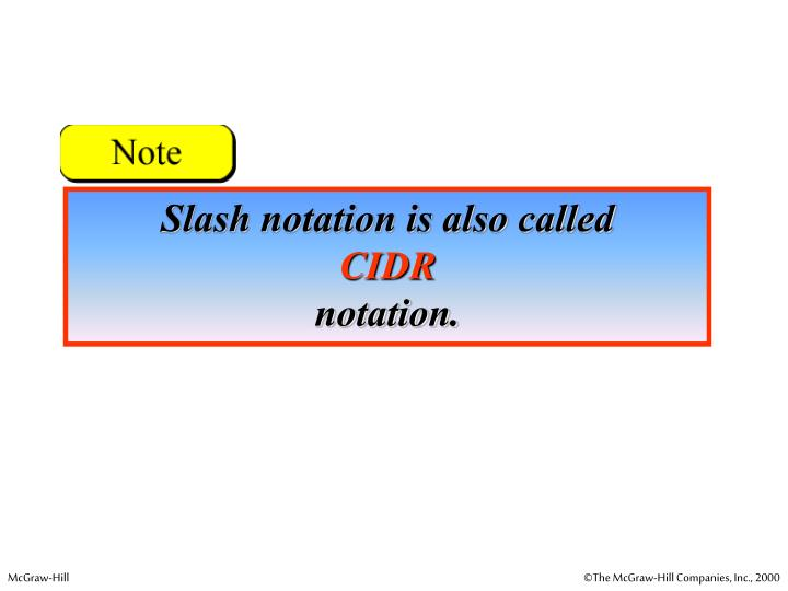 Slash notation is also called