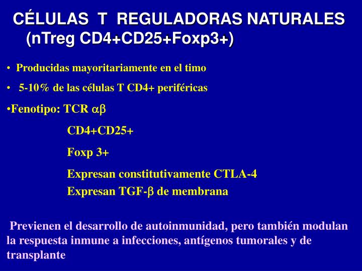 CÉLULAS  T  REGULADORAS NATURALES