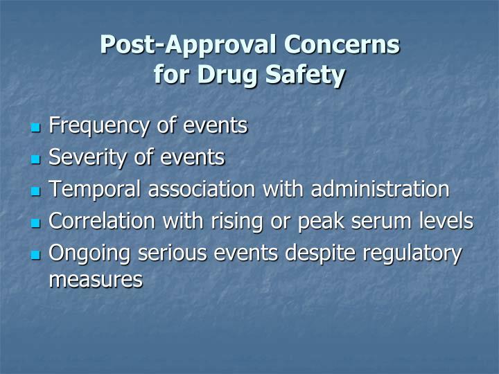Post-Approval Concerns
