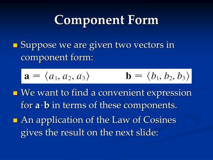 Component Form