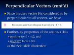 perpendicular vectors cont d