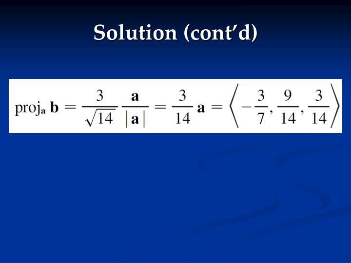 Solution (cont'd)
