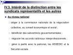 iv 3 int r t de la distinction entre les syndicats repr sentatifs et les autres4