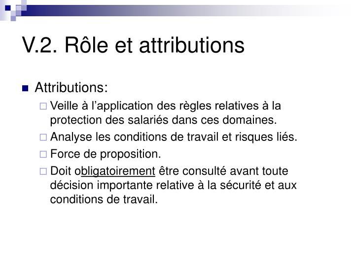 V.2. Rôle et attributions