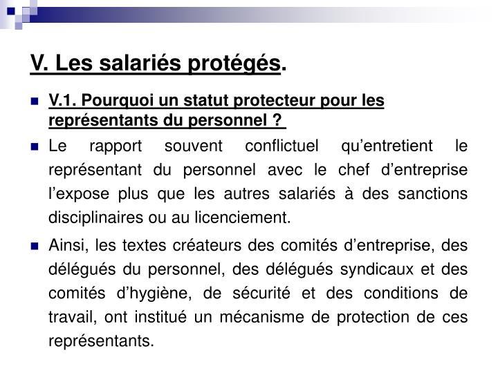 V. Les salariés protégés
