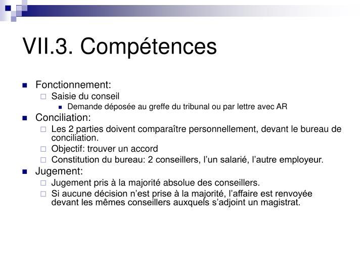 VII.3. Compétences