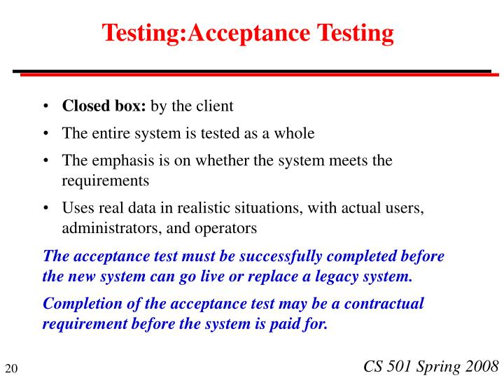 Testing:Acceptance Testing