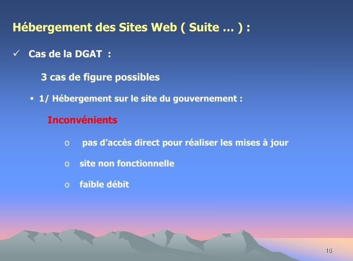 Hébergement des Sites Web ( Suite … ) :