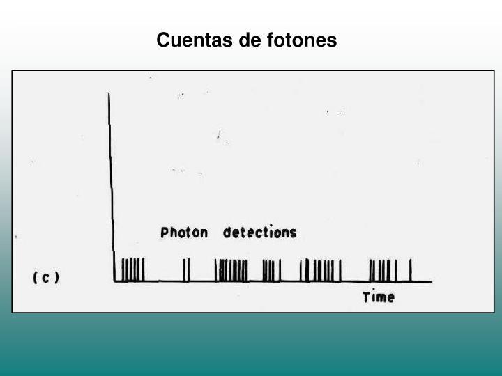 Cuentas de fotones