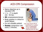 acd cpr compression