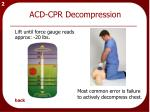 acd cpr decompression