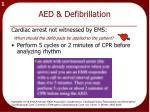 aed defibrillation