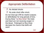 appropriate defibrillation
